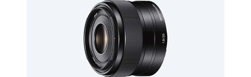 Sony, SEL35f18, f/1.8 OSS fixed lens, NEX series e mount, camera lens