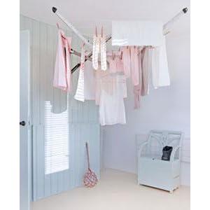 Brabantia Wallfix Retractable Washing Line With Fabric