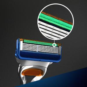 Gillette Fusion razor blades lubrastrip zoom