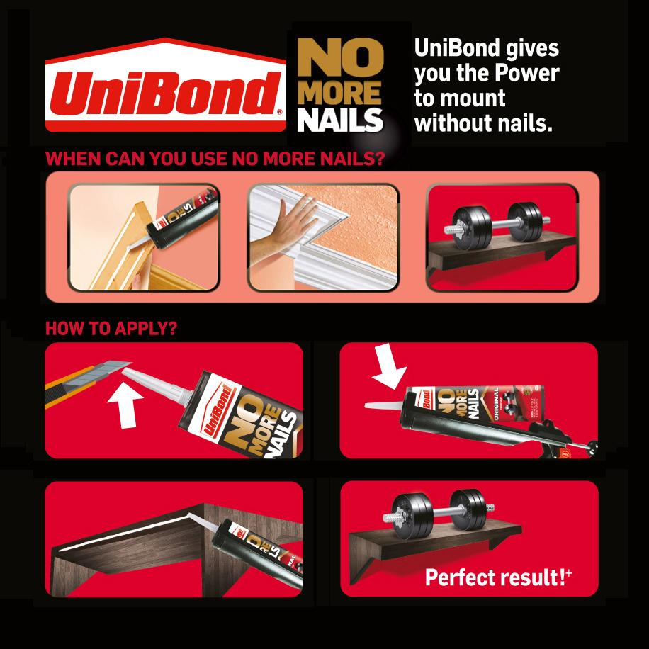 UniBond No More Nails Original Cartridge - 300 ml: Amazon.co.uk: DIY ...