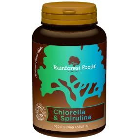 organic combined chlorella and spirulina tablets