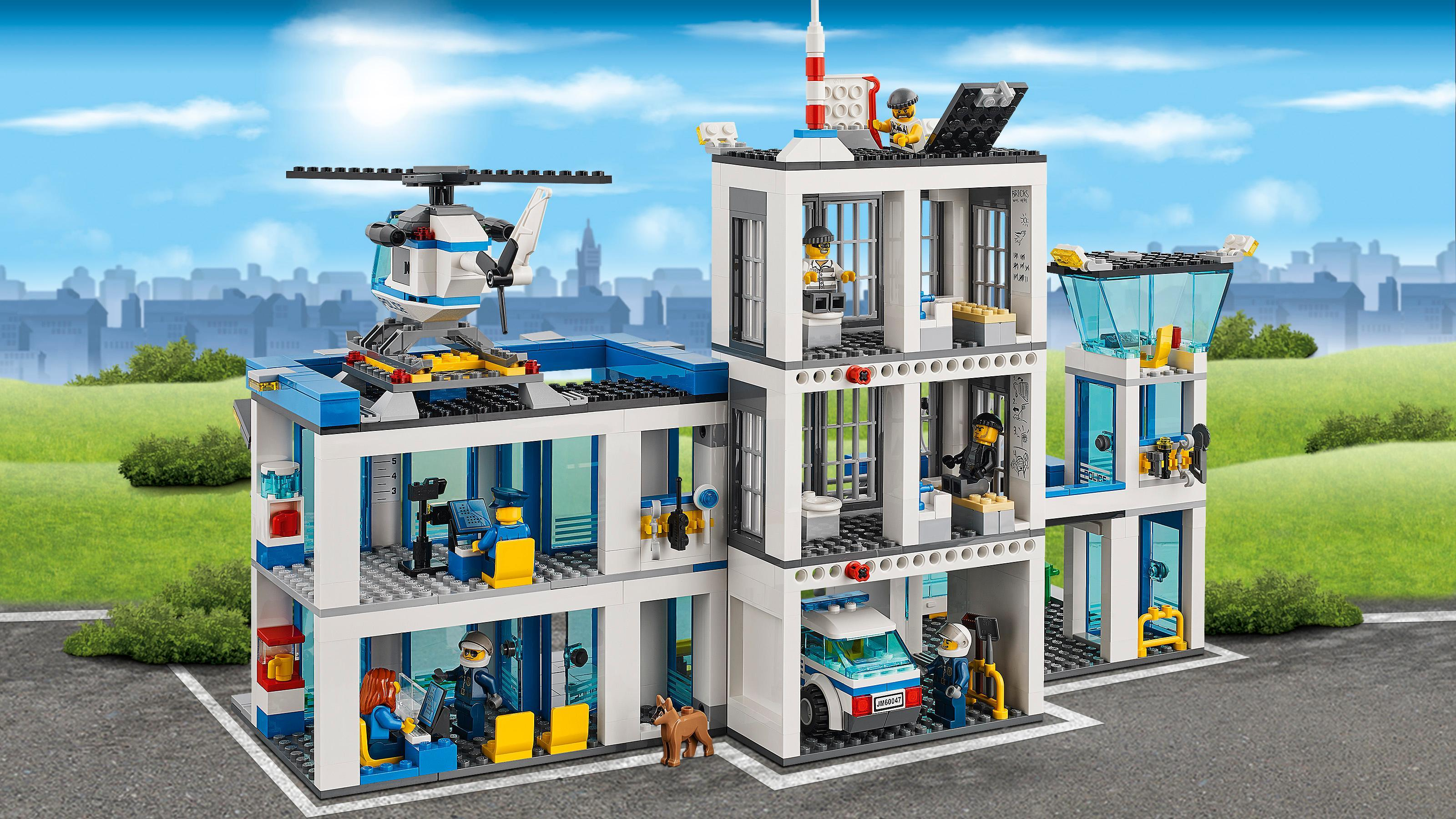 lego city police 60047 police station toys games. Black Bedroom Furniture Sets. Home Design Ideas