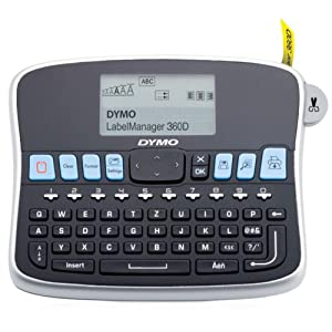 DYMO LabelManager 360D Label Maker - Large LCD Display for Intuitive Formatting