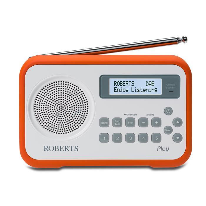 roberts radio play digital radio with dab dab fm rds and. Black Bedroom Furniture Sets. Home Design Ideas