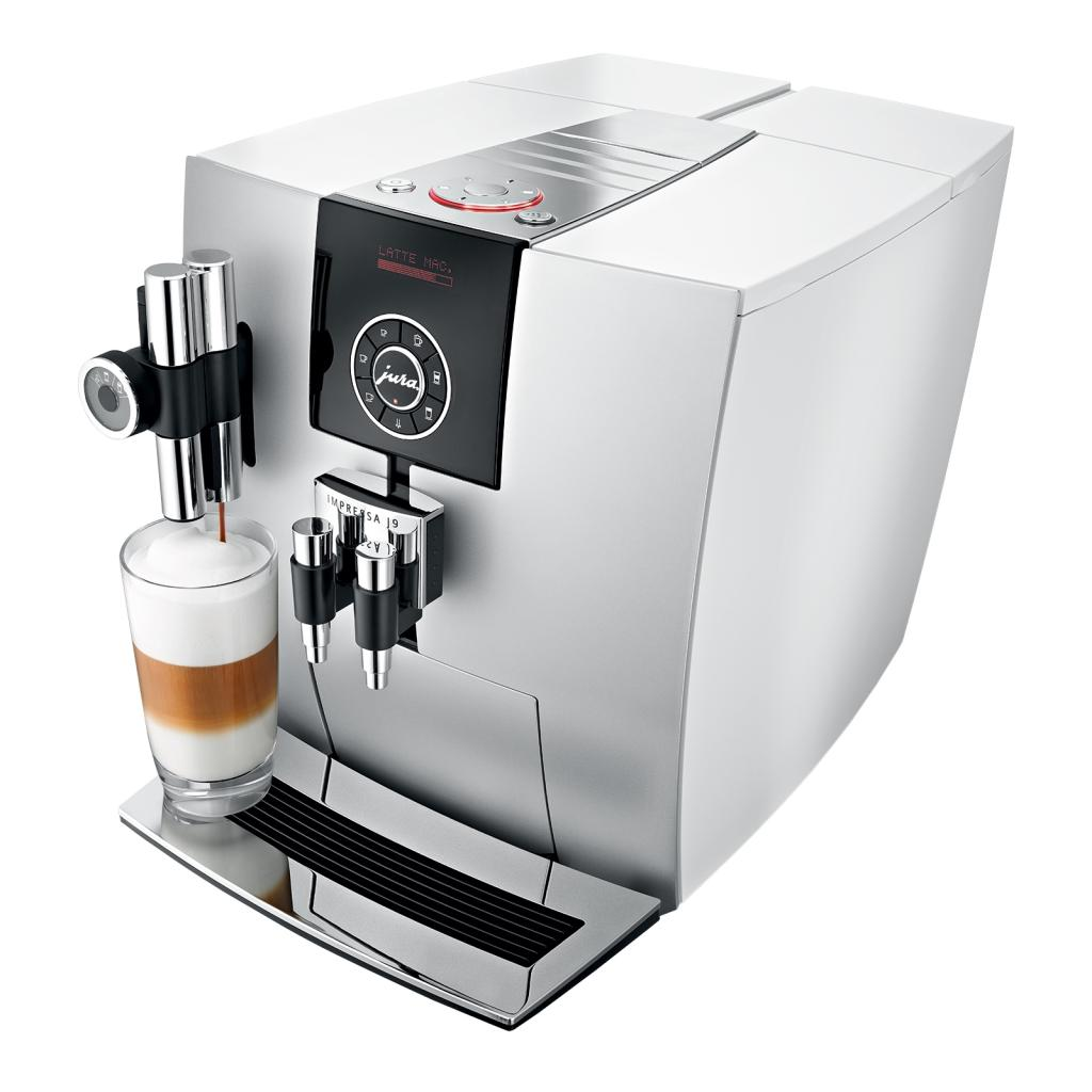 jura impressa j9 2 one touch coffee machine 1450 watt 15 bar platinum white. Black Bedroom Furniture Sets. Home Design Ideas
