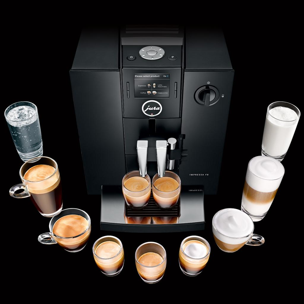 jura impressa f8 aroma tft coffee machine 1 9 l 1450 w 15 bar piano black. Black Bedroom Furniture Sets. Home Design Ideas