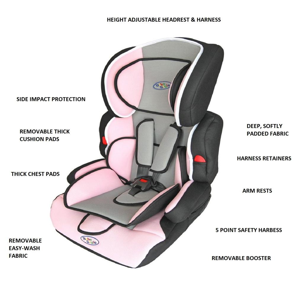 Bebe Style Deluxe Group 1 2 3 Combination Car Seat Pink Amazon