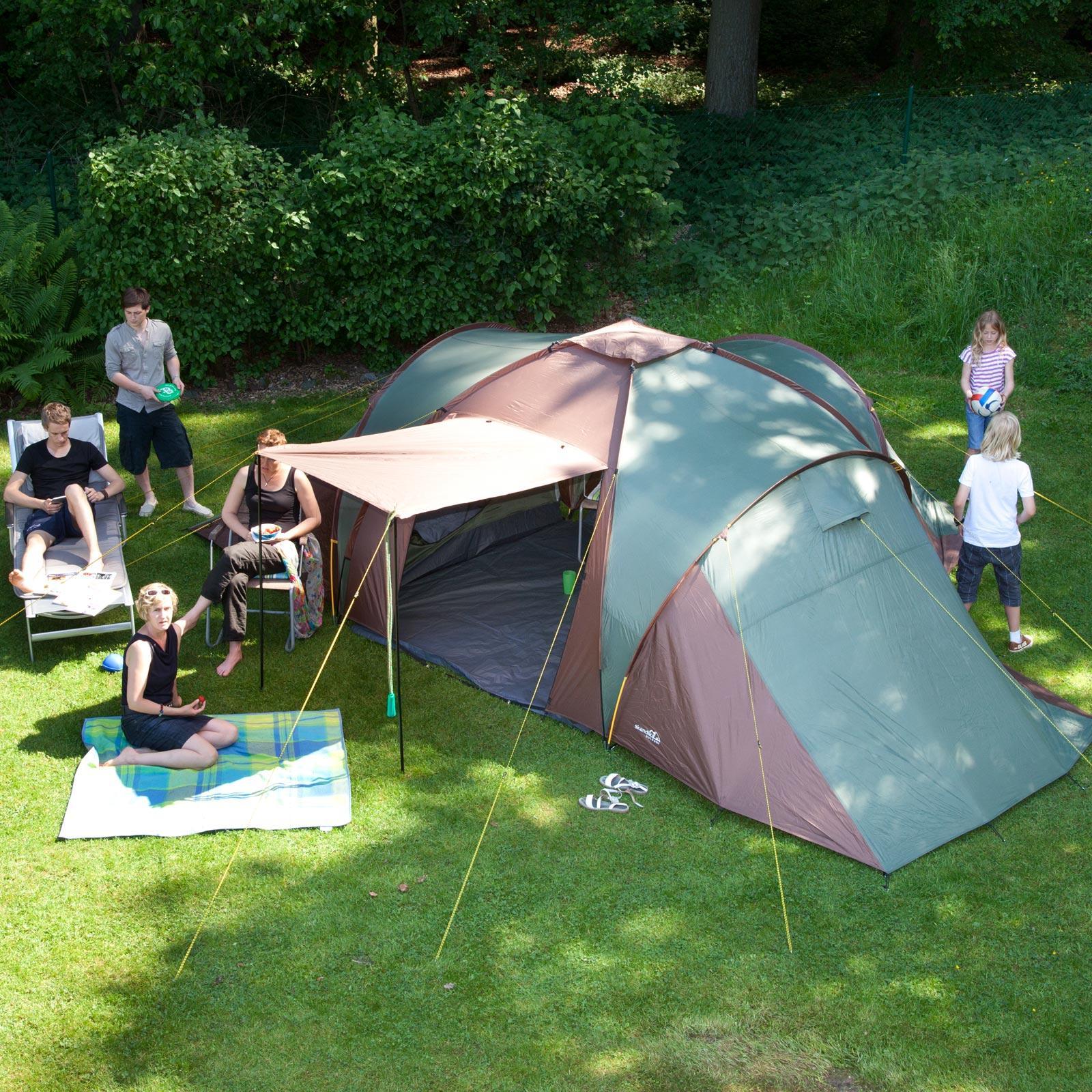 Family tent & Skandika Daytona Family Camping Tent with 3 Sleeping Rooms and Sun ...