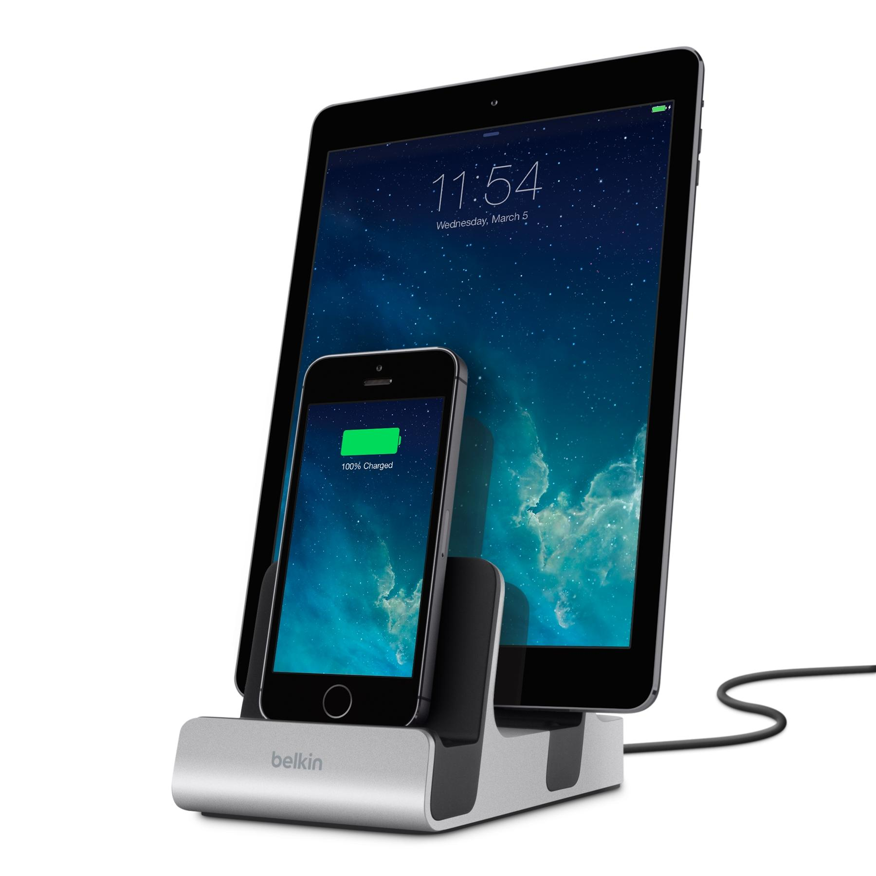 belkin dual lightning charging dock mfi approved for. Black Bedroom Furniture Sets. Home Design Ideas