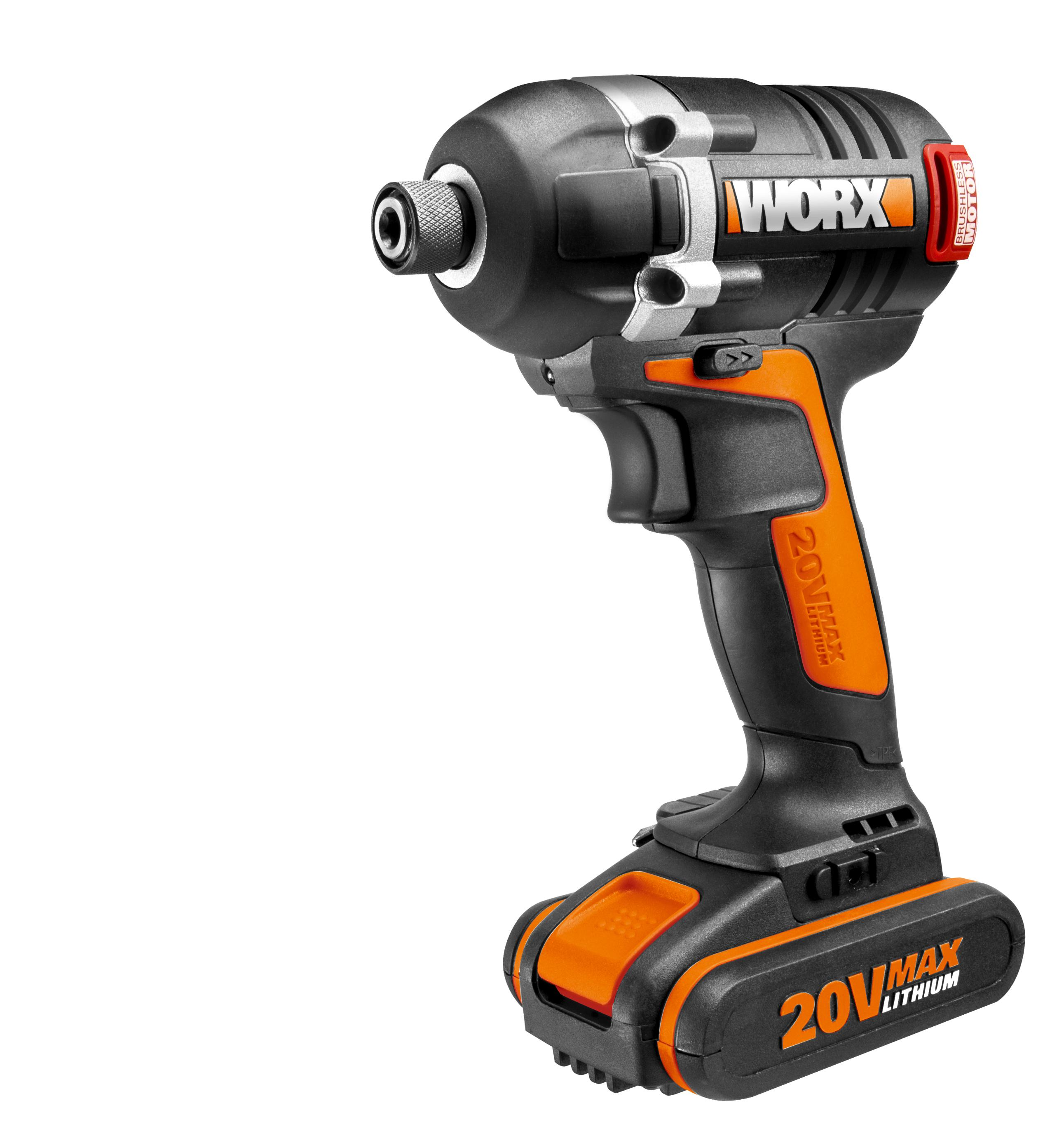worx wx918 18v 20v max cordless brushless motor impact driver and hammer drill. Black Bedroom Furniture Sets. Home Design Ideas