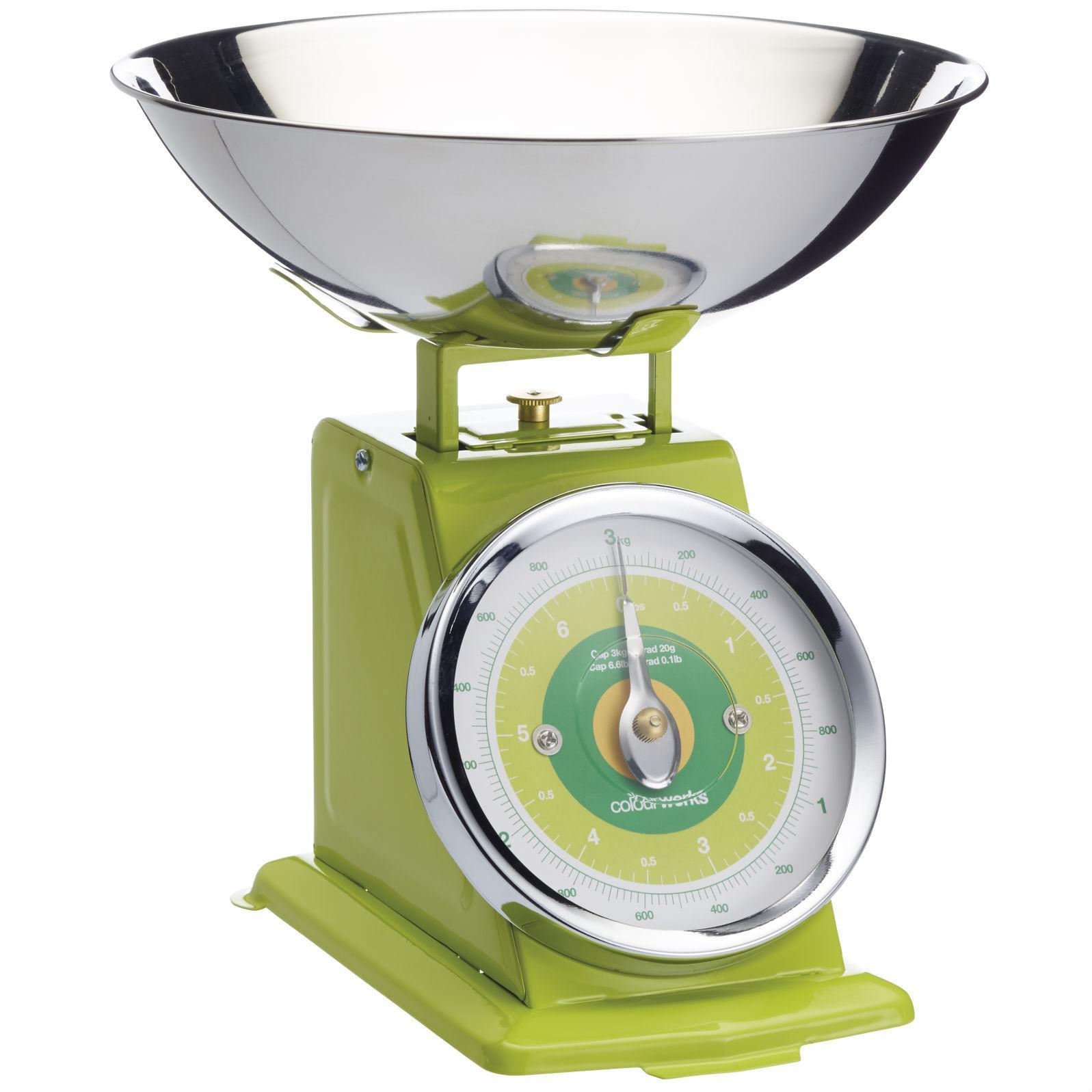 KitchenCraft Colourworks Mechanical Kitchen Scales, 3 kg (6.5 lbs ...