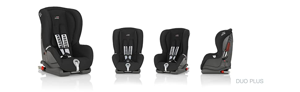 britax r mer duo plus isofix forward facing car seat group 1 black thunder baby. Black Bedroom Furniture Sets. Home Design Ideas