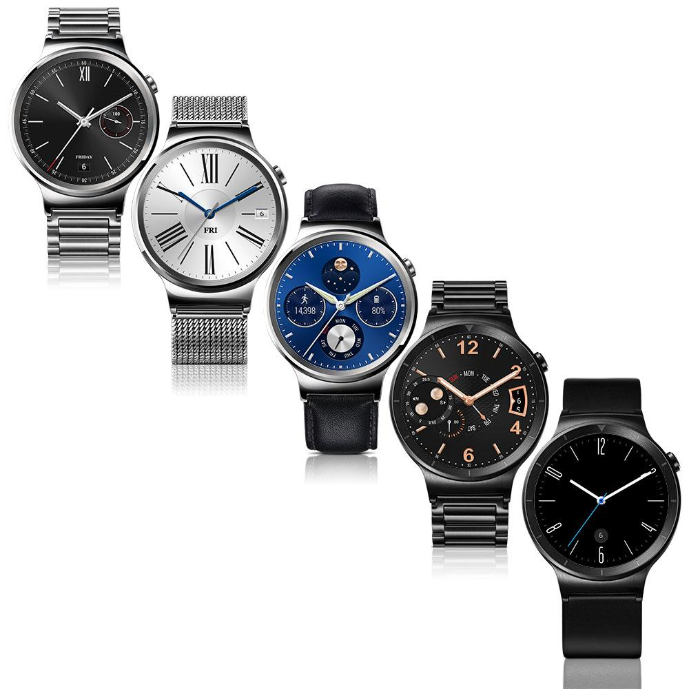 Huawei W1 Stainless Steel Classic Smartwatch with Leather ...