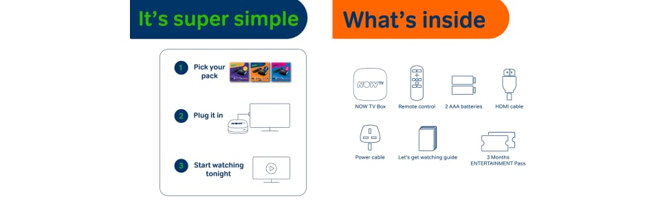 With no installation, just plug it in, connect to your existing broadband and start watching
