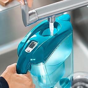 brita elemaris xl water filter jug and cartridge white kitchen home. Black Bedroom Furniture Sets. Home Design Ideas