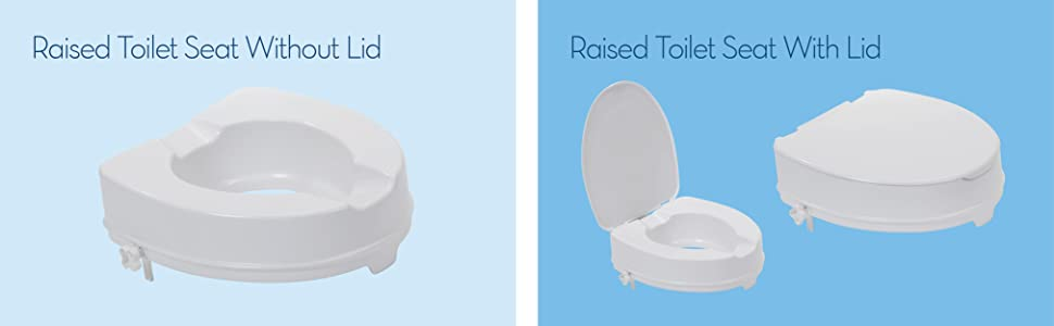 Drive DeVilbiss Healthcare  Raised Toilet Seat Without Lid - Toilet seat with no lid