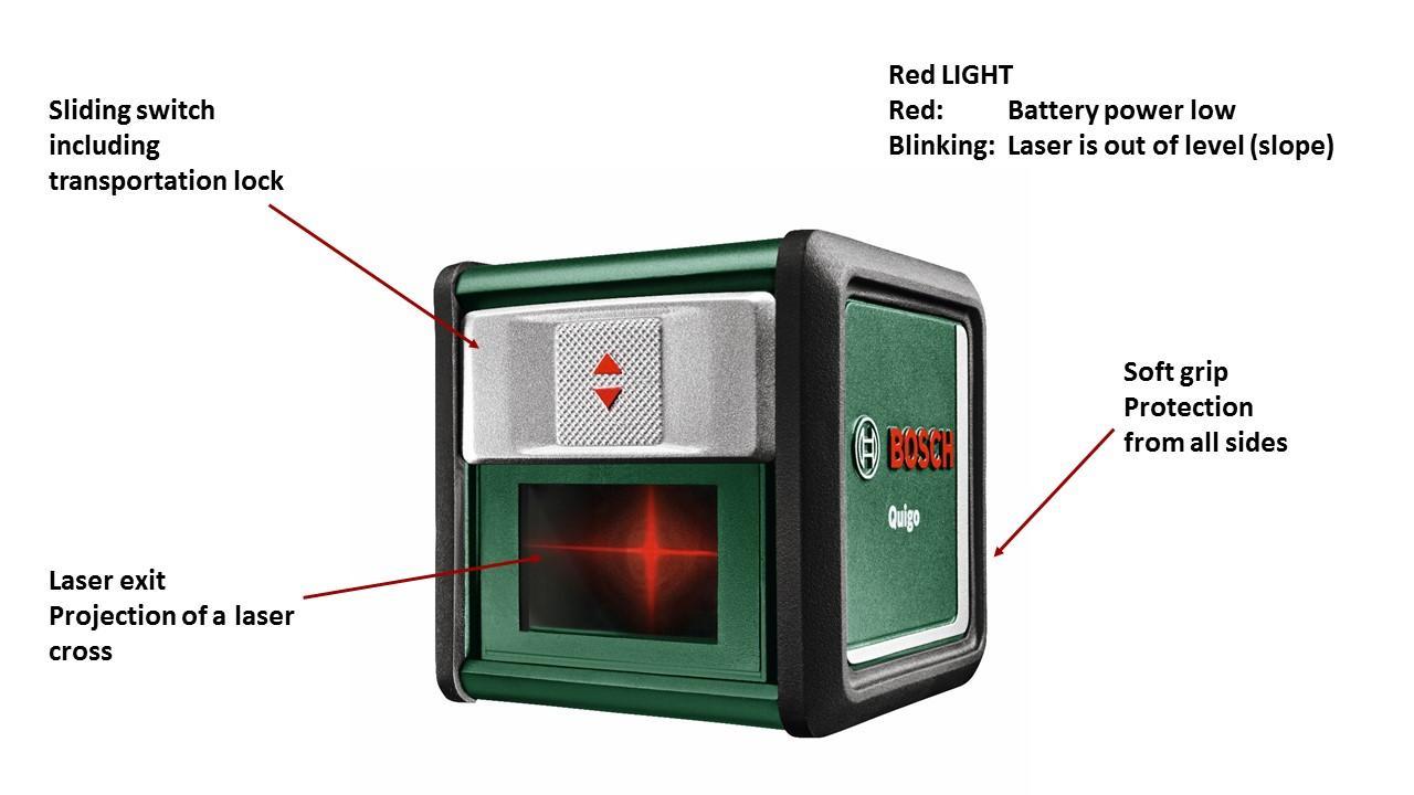 bosch quigo cross line laser level diy tools. Black Bedroom Furniture Sets. Home Design Ideas