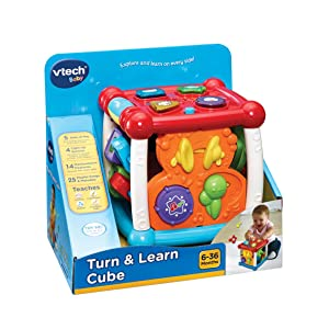 vtech baby turn and learn cube multi coloured. Black Bedroom Furniture Sets. Home Design Ideas