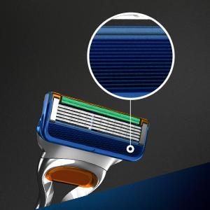 Gillette Fusion razor blades microfins zoom