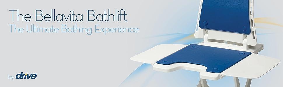 Drive DeVilbiss Healthcare Bellavita Lightweight Reclining Bath Lift ...