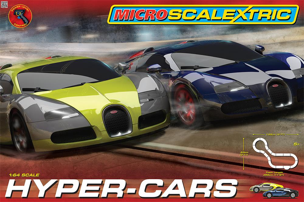 Brand New Micro Scalextric Scale Hyper Cars Race Set Car