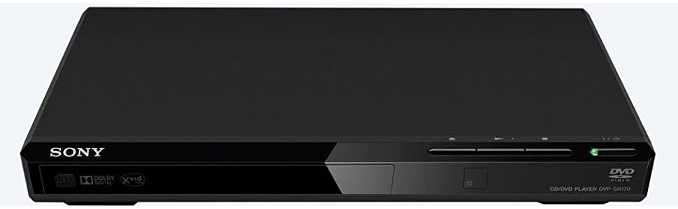 Sony, DVD player, DVP-SR170, playback, tv