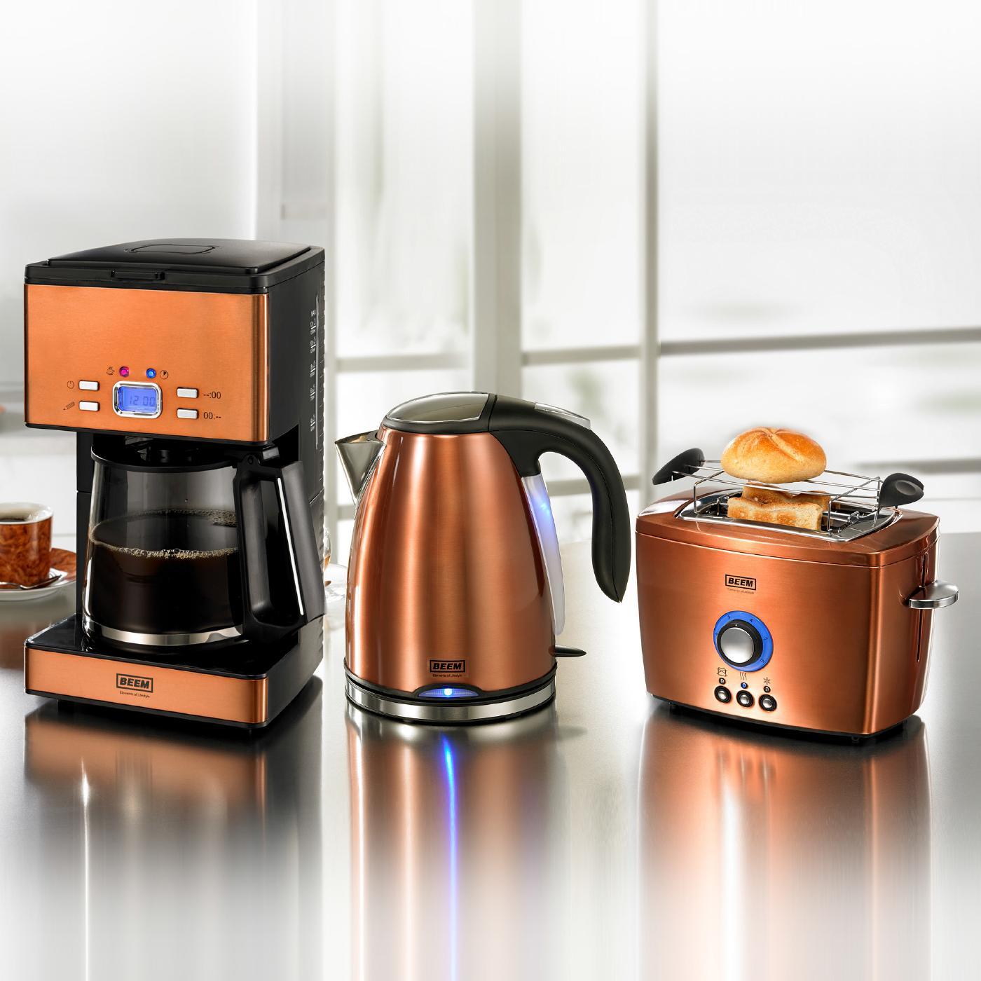 beem germany nobilis kettle 1850 2000 watt copper. Black Bedroom Furniture Sets. Home Design Ideas