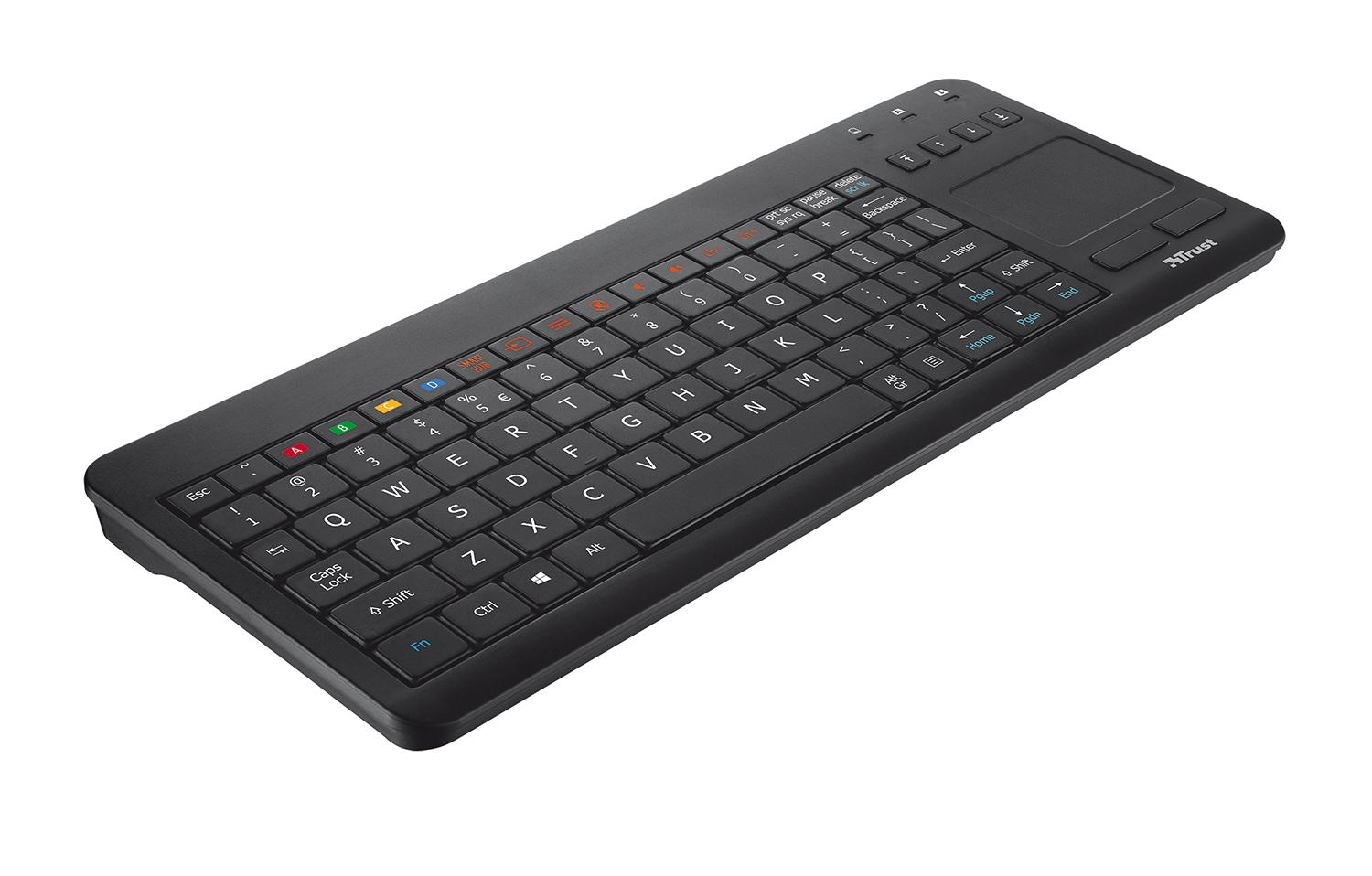 trust sento wireless keyboard with touchpad for all samsung tvs uk layout. Black Bedroom Furniture Sets. Home Design Ideas