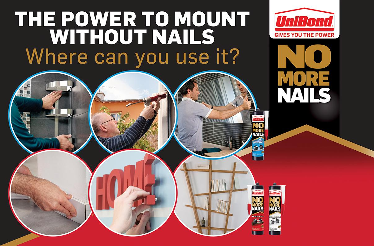 UniBond No More Nails Original Tube - 200 ml: Amazon.co.uk: DIY & Tools