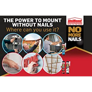 UniBond No More Nails: Where you can use it