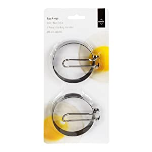Premier Housewares Non Stick Egg Rings With Folding