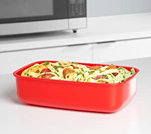 Sistema; microwave cookware; rectangular container; microwave cooking