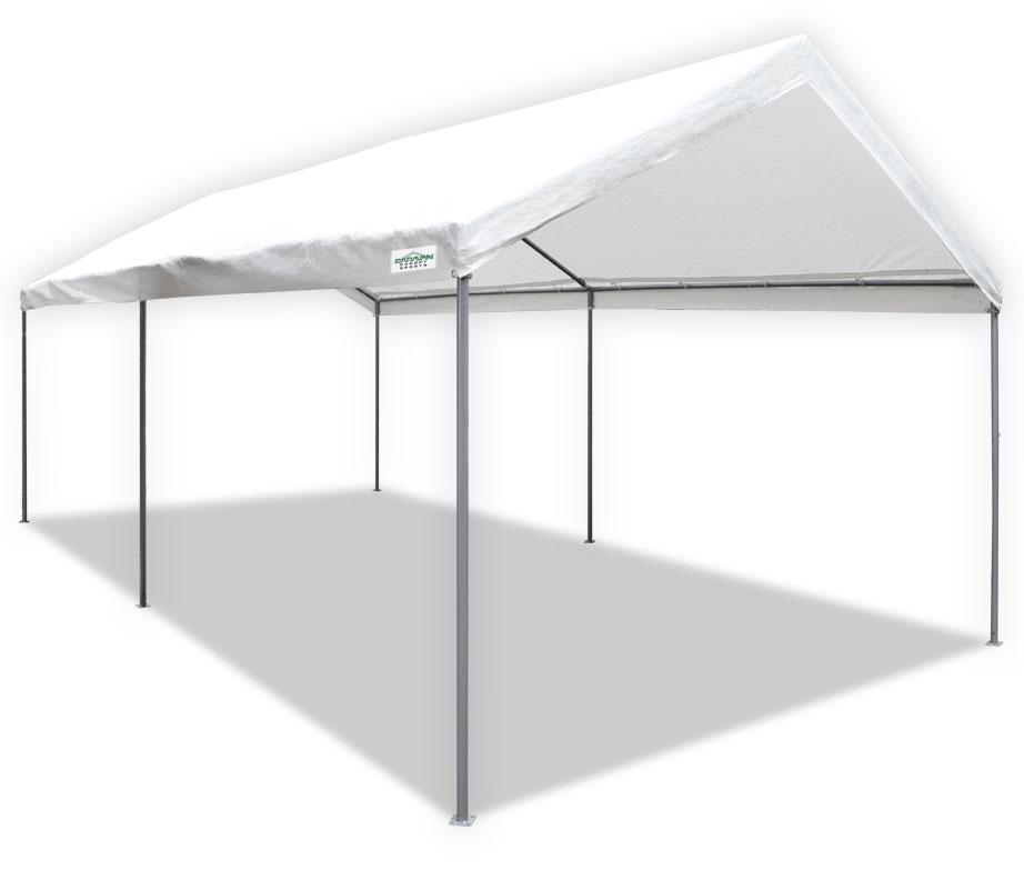 caravan canopy 22006200010 10 x 20 ft domain carport. Black Bedroom Furniture Sets. Home Design Ideas