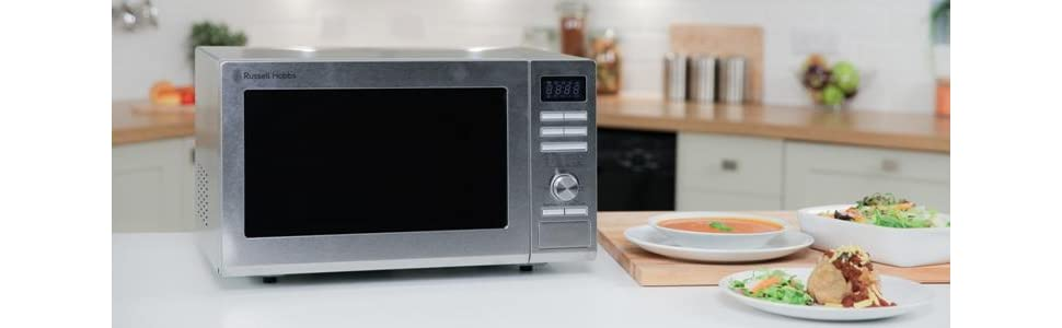 russell hobbs rhm2563 25l digital 900w solo microwave stainl