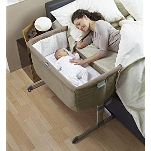 chicco next2me side sleeping crib dove grey. Black Bedroom Furniture Sets. Home Design Ideas