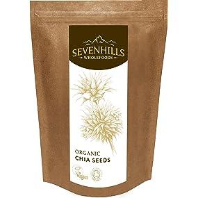 Sevenhills Wholefoods Organic Raw Chia Seeds