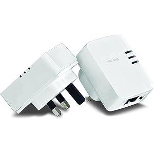 TRENDnet TPL-406E2K 500 Mbps Nano Powerline Ethernet Adapter - Twin Pack