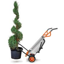 plant mover, rock mover, wheelbarrow attachment, garden maintenance, landscaping tool, lanscape