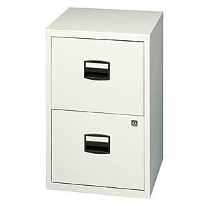 bisley chalk white pfa 2 drawer