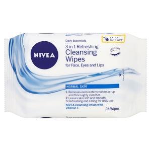 nivea, face wash, face wipes, facial wipes