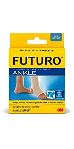 FUTURO Comfort Lift Ankle Support; sprained ankle