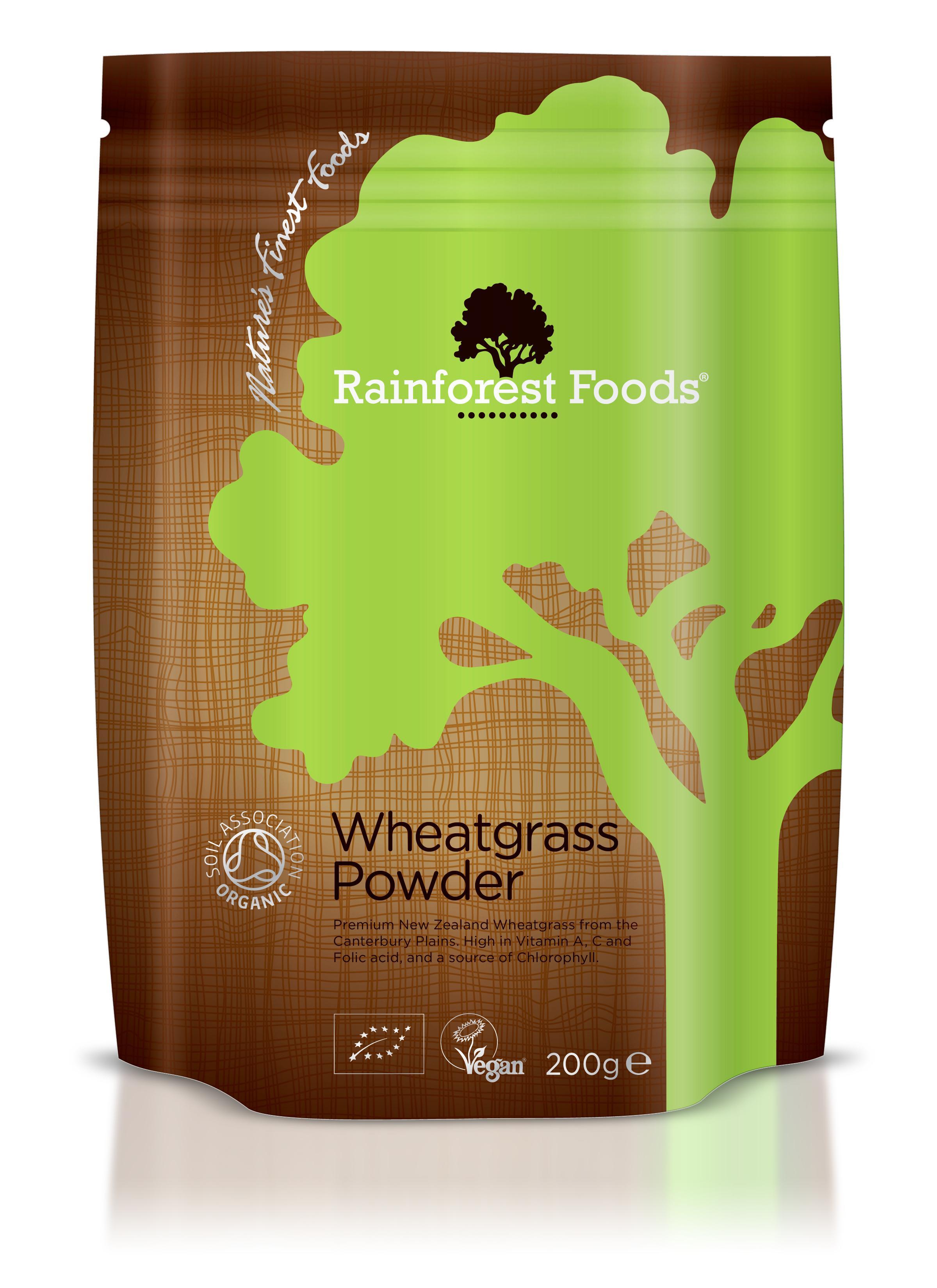 Rainforest Foods Organic New Zealand Wheatgrass Powder 200g ...