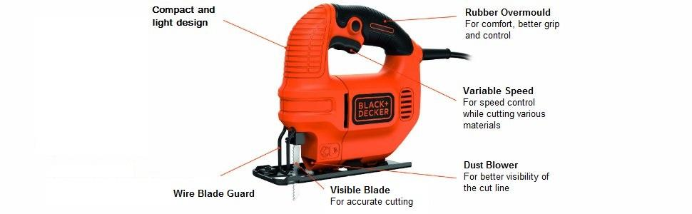 Blackdecker ks501 gb compact jigsaw with blade 400 w amazon ks501 gb 400 w compact jigsaw with blade greentooth Gallery