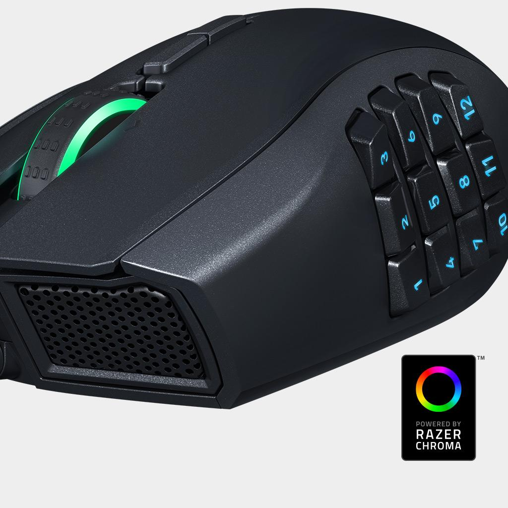 Razer Naga Chroma Professional Grade Ergonomic MMO Gaming Mouse (19 Programmable Buttons and ...