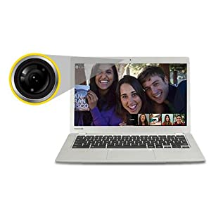 The Toshiba CB30-B features a HD webcam and noise-cancelling microphone