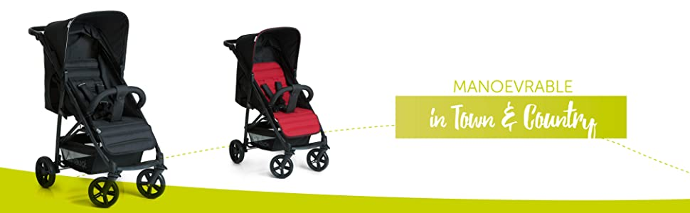Hauck Rapid 4 Four Wheel Pushchair With One Hand Fold