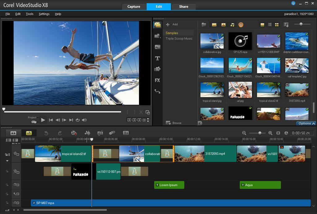 Corel videostudio pro x8 pc dvd software for Free corel video studio templates