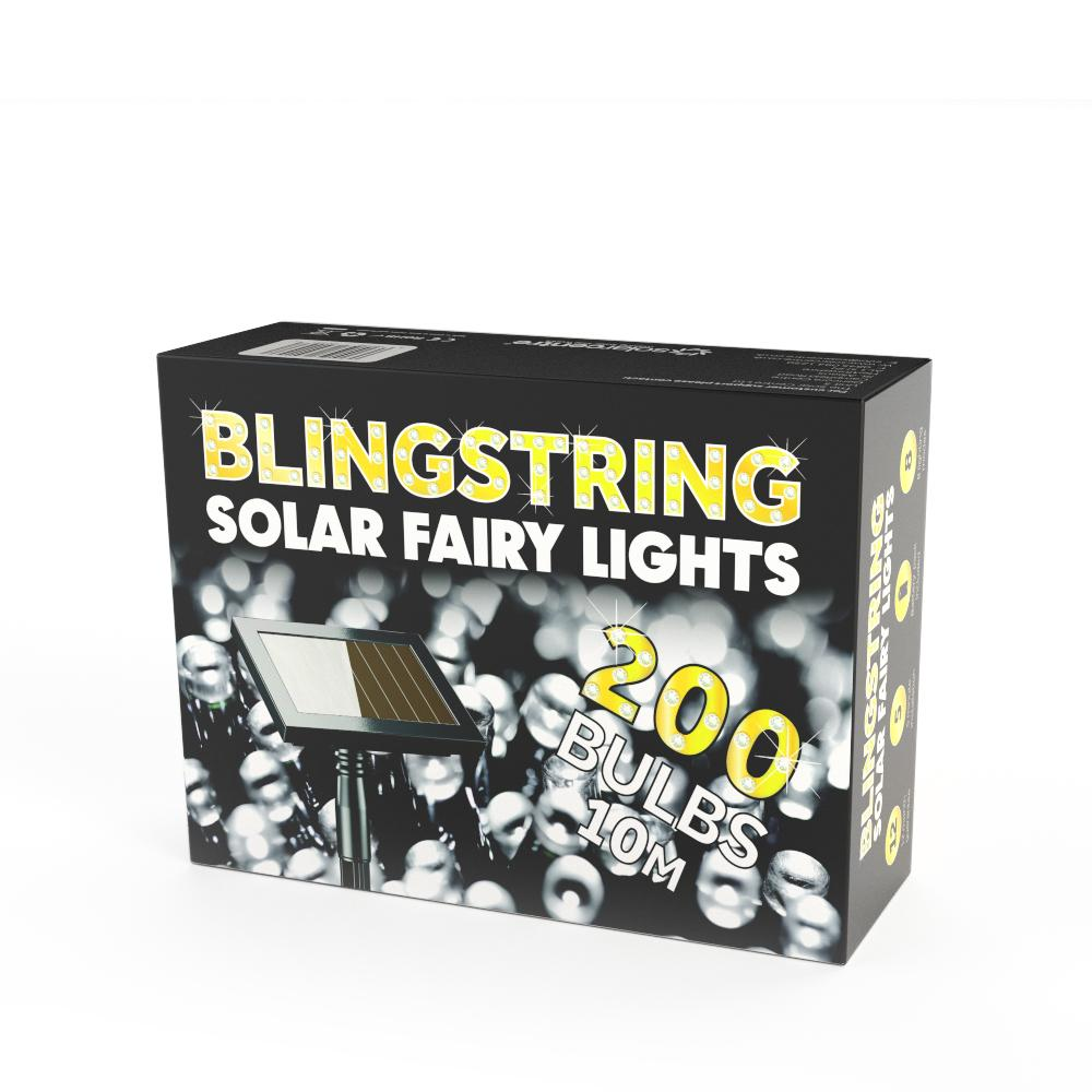 Blingstring Outdoor Solar Fairy Lights White 200 Leds