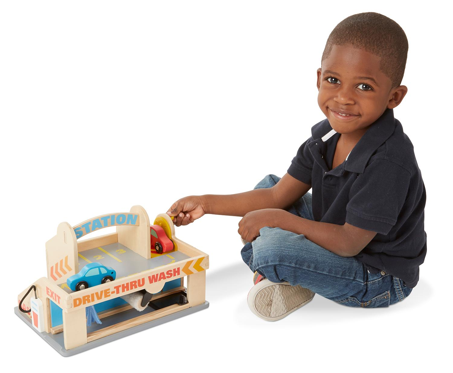 Melissa Amp Doug Service Station Parking Garage With 2