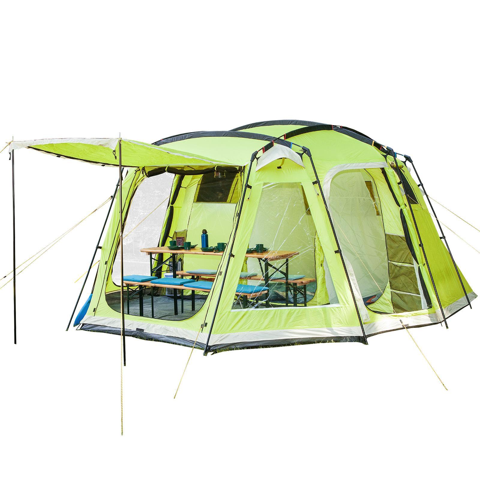 Family Tent ...  sc 1 st  Amazon UK & Skandika Korsika Dome Tent with 3 Big Sleeping Cabins 210 cm Peak ...